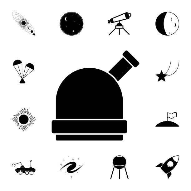 sternwarte-symbol. detaillierte reihe von raum-icons. premium-qualität grafikdesign sign. eines der sammlung icons für webseiten, webdesign, mobile-app - sternwarte stock-grafiken, -clipart, -cartoons und -symbole