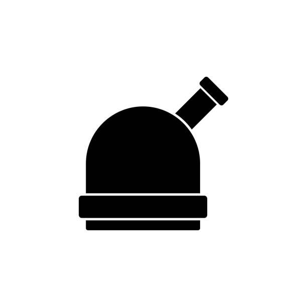 sternwarte-symbol. element des raum-symbole. premium-qualität-grafik design-ikone. zeichen, symbole gliederung sammlungssymbol für webseiten, webdesign, mobile-app - sternwarte stock-grafiken, -clipart, -cartoons und -symbole