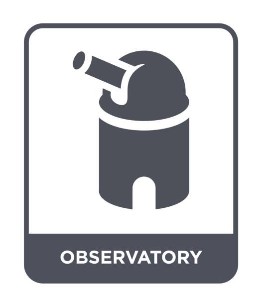 sternwarte symbol vektor auf weißem hintergrund, gefüllt observatorium trendige ikonen aus astronomie-sammlung - sternwarte stock-grafiken, -clipart, -cartoons und -symbole