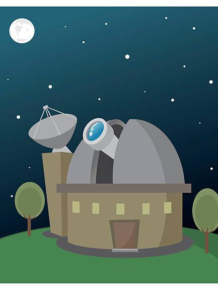 observatorium  - sternwarte stock-grafiken, -clipart, -cartoons und -symbole