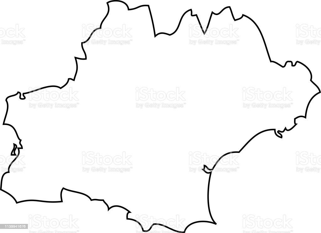 Toulouse Karte.Occitania Toulouse Karte Region Von Frankreich Stock Vektor Art Und