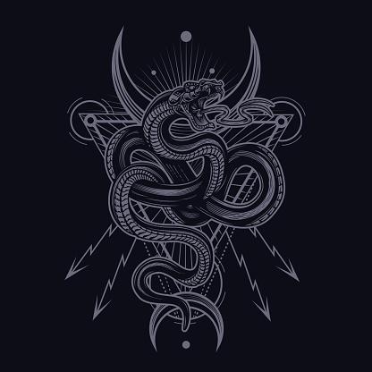 Occult snake poster.