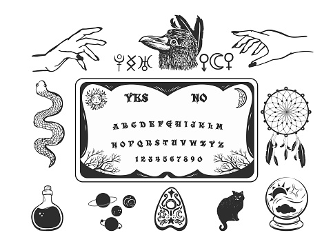 Occult symbols element collection.