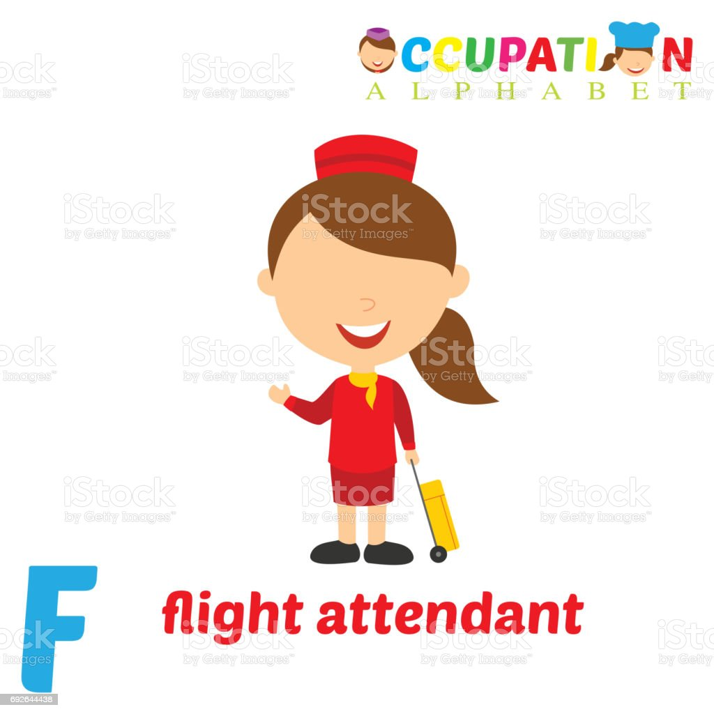 Occupation Alphabet with F Letter vector art illustration