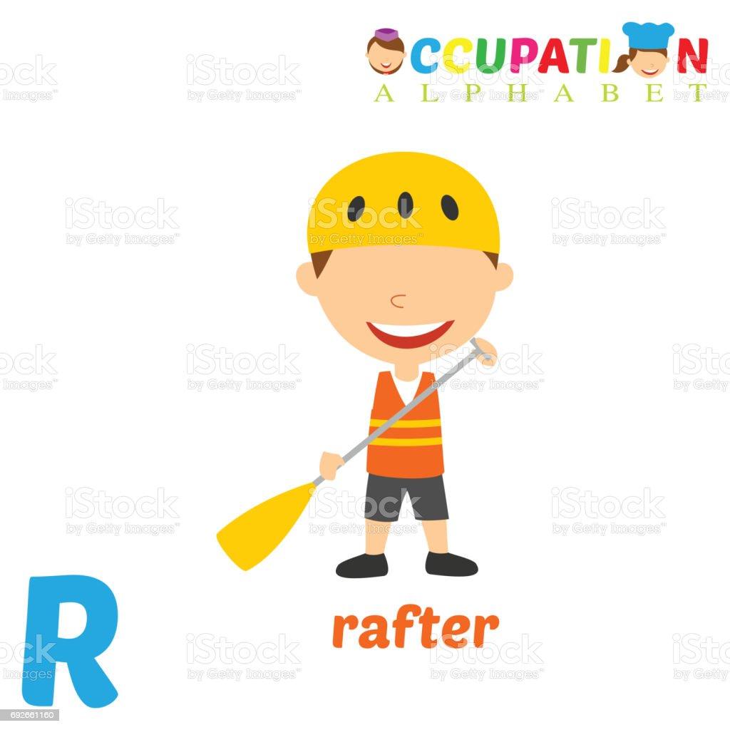 3b68fec6b Alfabeto de ocupação com a letra R vetor de alfabeto de ocupação com a letra  r e
