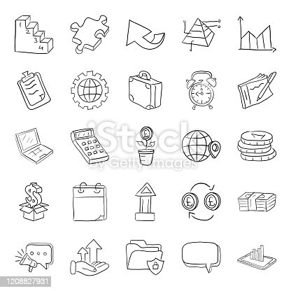 Here is an amazing pack naming occupation and finance in doodle style. This pack is so creative and outstanding having editable quality. Hold this set and make your next project worthy and alluring. Enjoy!