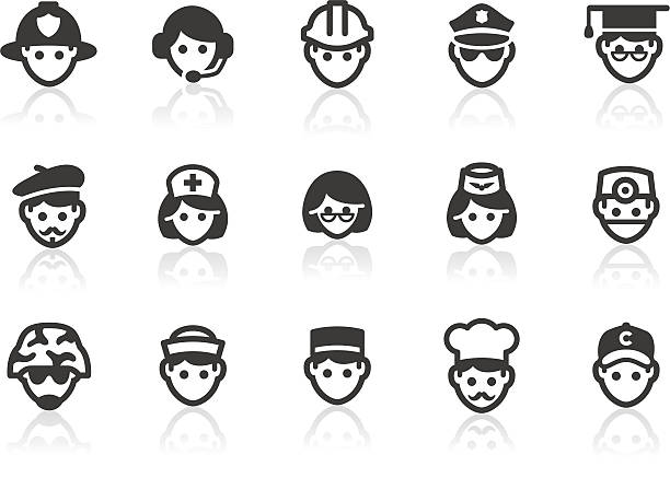 illustrations, cliparts, dessins animés et icônes de icônes d'occupation - bureau police