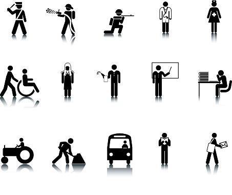 Occupation Stick Figure Icons
