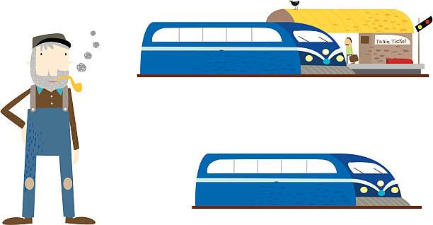 occupation - train driver vektorkonstillustration