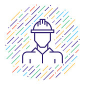 Occupational Health & Safety Vector Line Icon Illustration