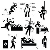 Occupational Safety and Health Worker Accident Hazard Pictogram