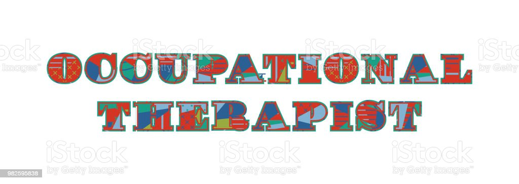Occupational Therapist Concept Word Art Illustration vector art illustration