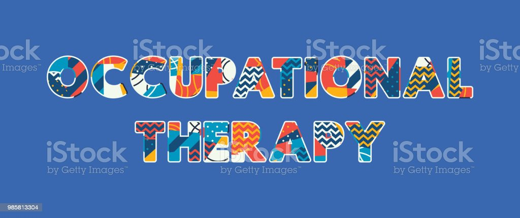 Occupational Therapy Concept Word Art Illustration vector art illustration