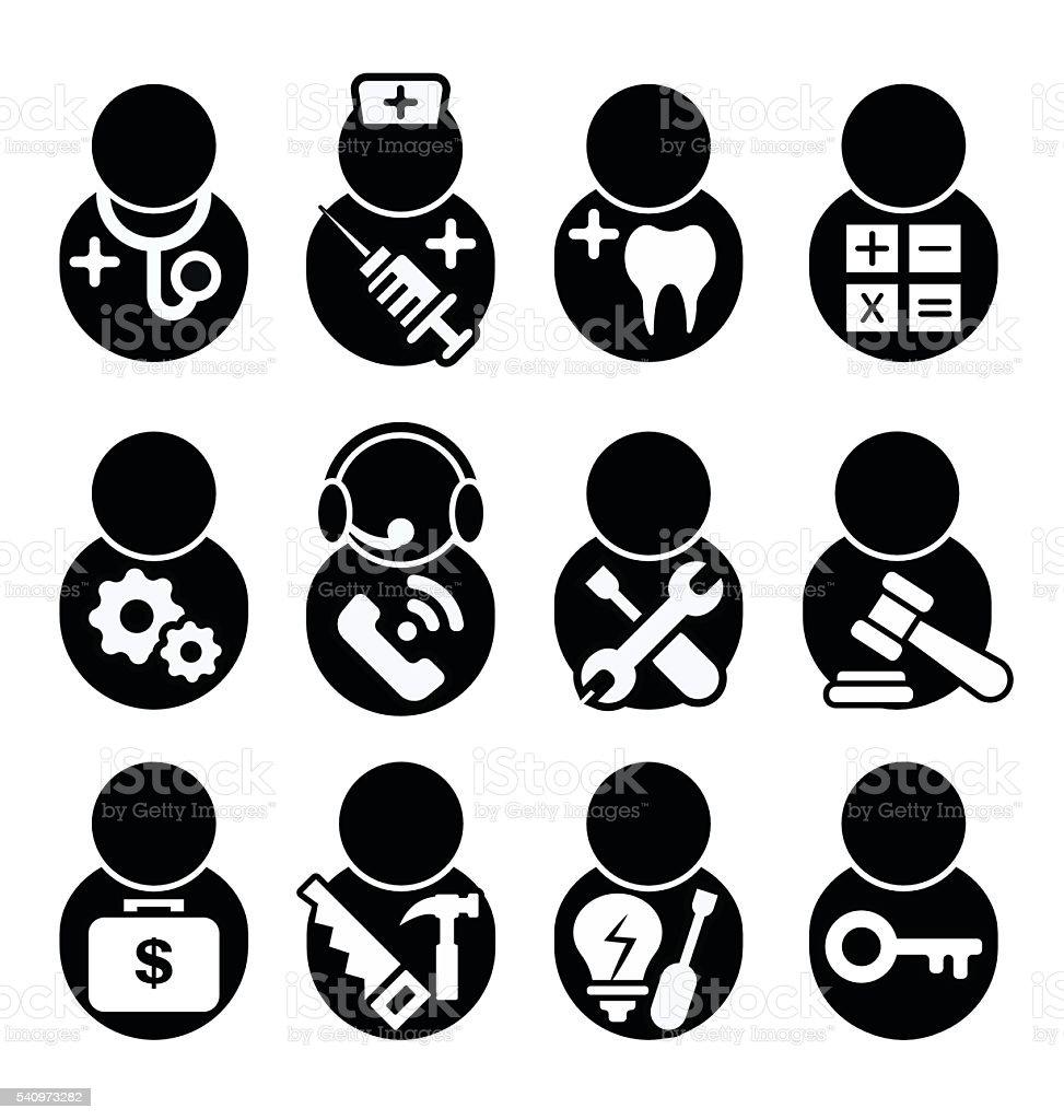 occupations icon vector art illustration