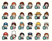 Occupations Icons - Smartphone.