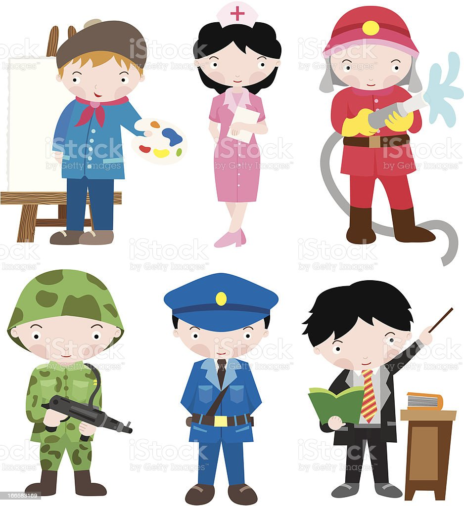 Occupations Set royalty-free stock vector art