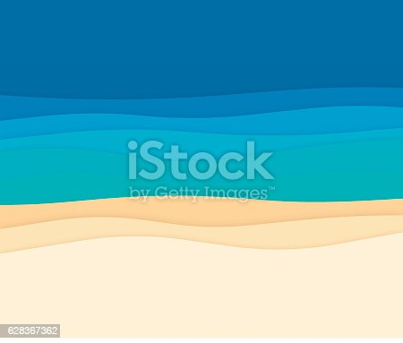 Ocean waves beach banner with space for your copy. EPS 10 file. Transparency effects used on highlight elements.