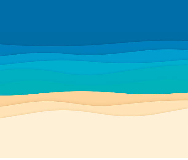 Ocean Abstract Background Waves Ocean waves beach banner with space for your copy. EPS 10 file. Transparency effects used on highlight elements. bay of water stock illustrations