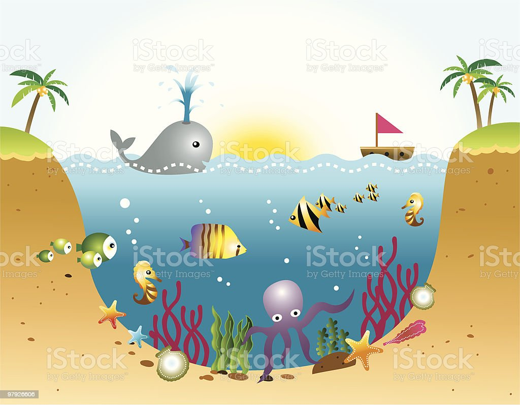Ocean and Sea Life royalty-free ocean and sea life stock vector art & more images of animal wildlife