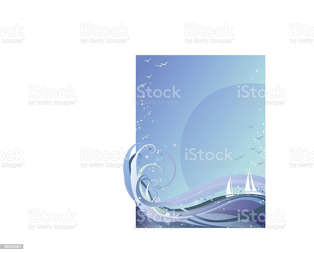 Ocean Background royalty-free ocean background stock vector art & more images of abstract