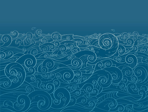 ocean background - море stock illustrations
