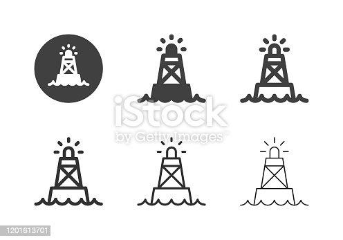 Ocean Buoy Icons Multi Series Vector EPS File.