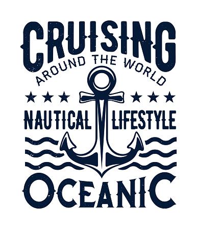 Ocean cruising, nautical lifestyle, ship anchor