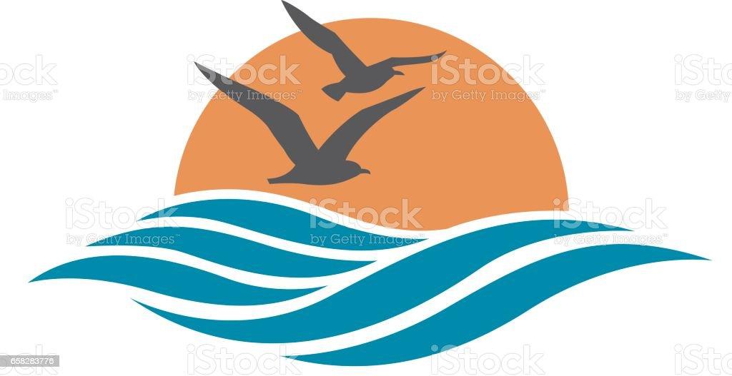 ocean design vector art illustration