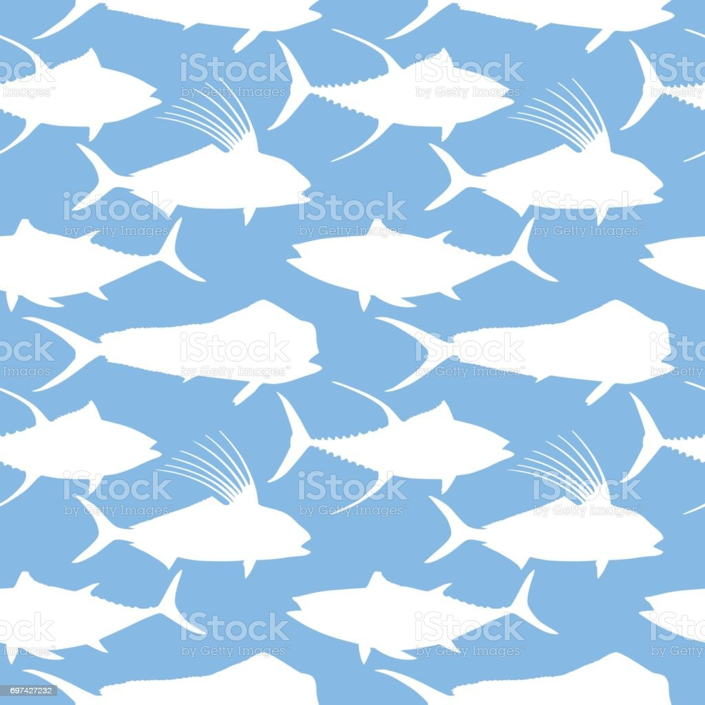 Ocean Fish Pattern vector art illustration