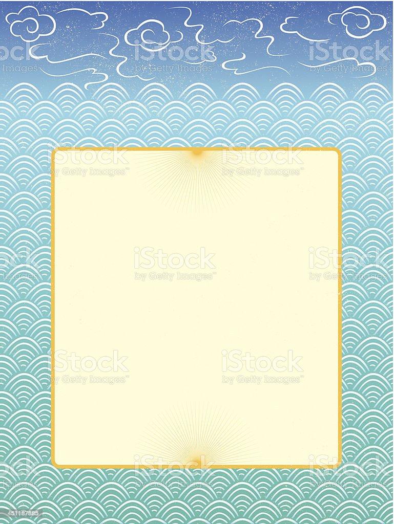 ocean frame royalty-free stock vector art