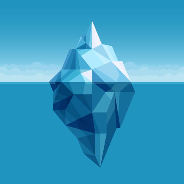 ilustrações de stock, clip art, desenhos animados e ícones de ocean iceberg antarctic landscape vector background - iceberg
