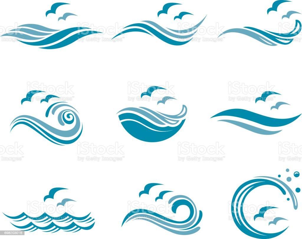 royalty free ocean wave clip art vector images illustrations istock rh istockphoto com ocean wave outline clip art ocean wave clipart png
