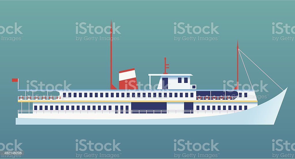 Ocean liner royalty-free stock vector art