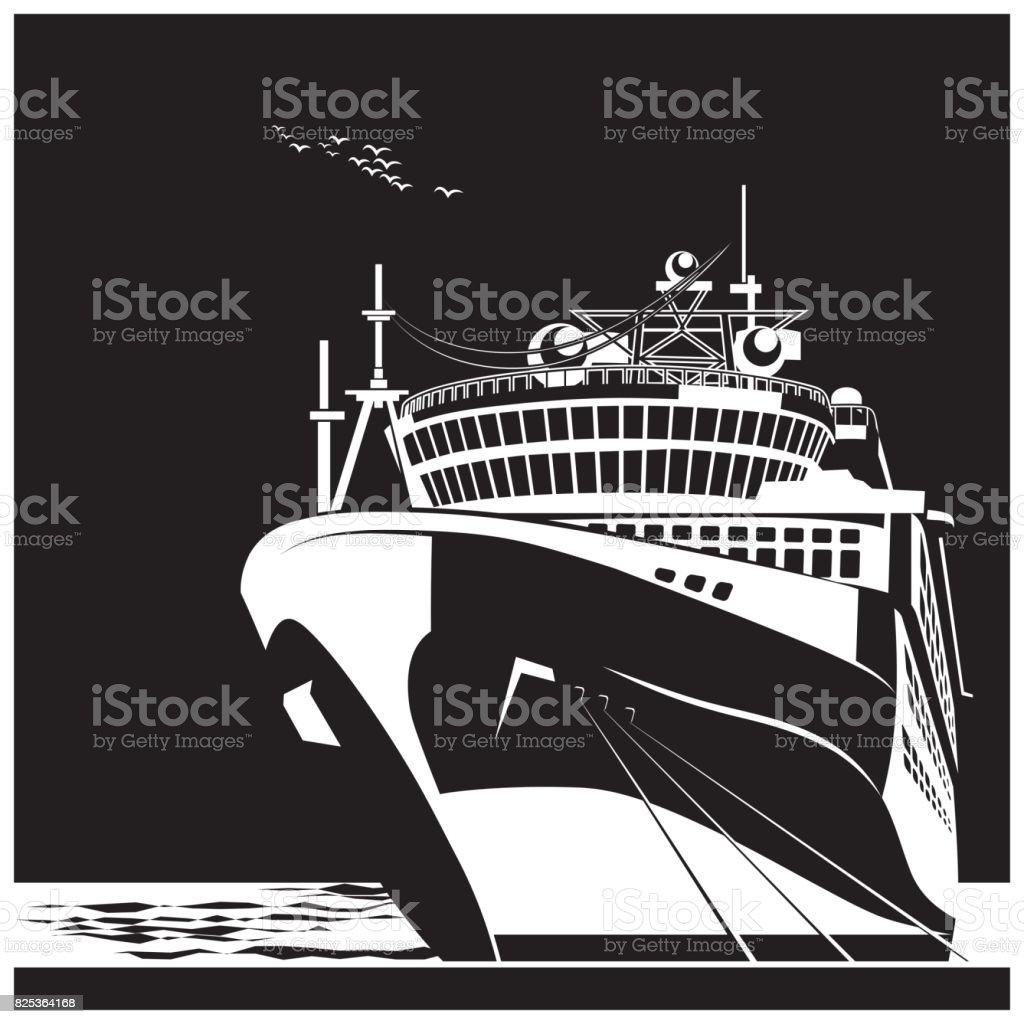 Ocean liner vector art illustration