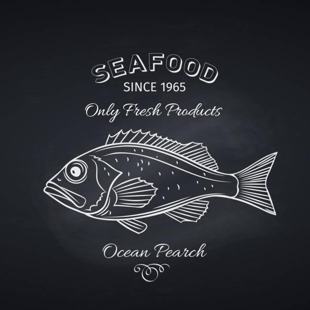 ocean perch hand drawn - redfish stock illustrations, clip art, cartoons, & icons