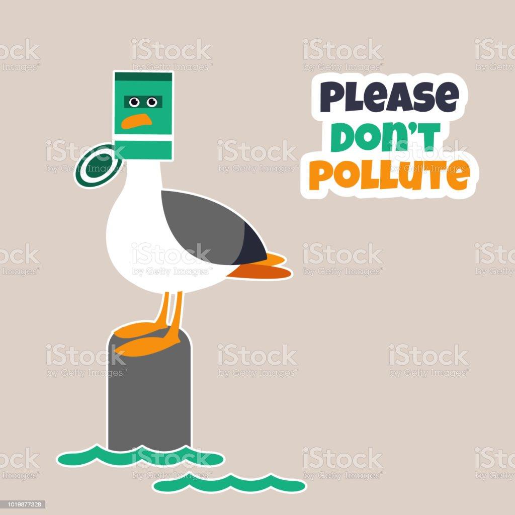 Ilustración De Problema De La Contaminación Del Océano Cartel De Eco