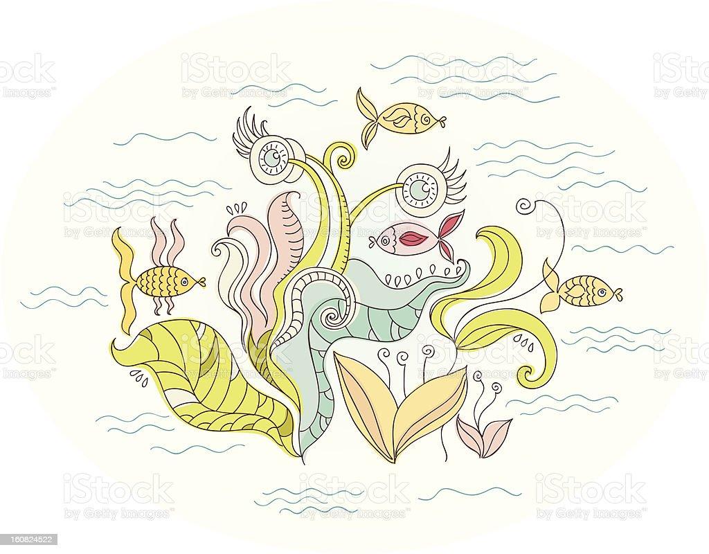 Ocean Underwater World royalty-free stock vector art