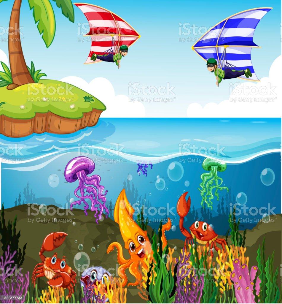 Ocean vector art illustration