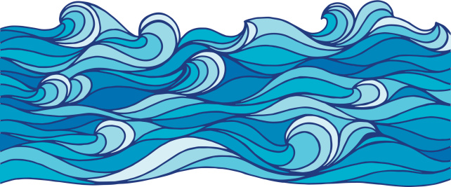 Vector illustration of sea waves. EPS10, AI CS, high res jpeg included.