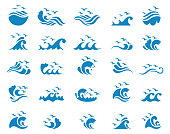 Ocean with seagulls icon set , vector illustration