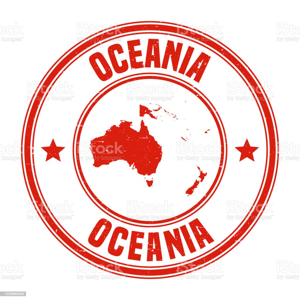 Oceania Red Grunge Rubber Stamp With Name And Map Stock Illustration -  Download Image Now