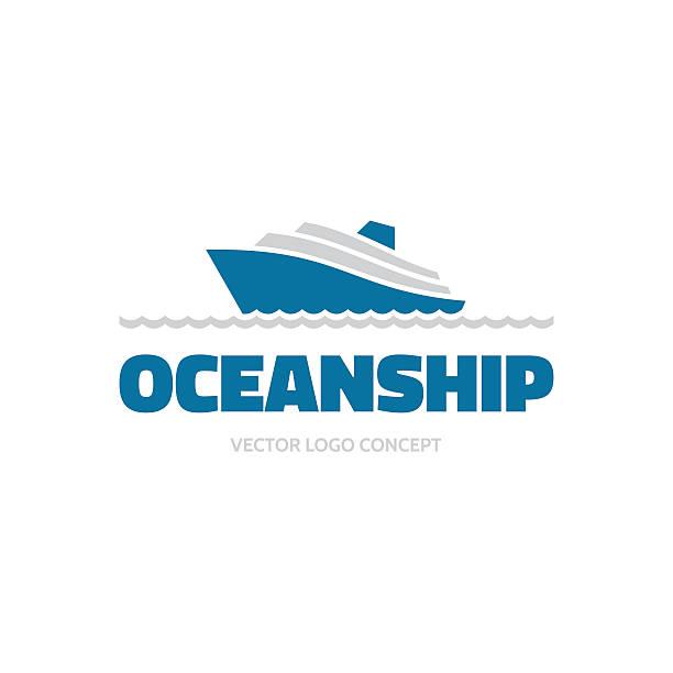 illustrations, cliparts, dessins animés et icônes de oceanship-logo vector concept.  mer navire illustration.  modèle de logo vector. - croisière