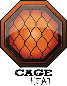 MMA Octagon Sign, Vector Illustration.