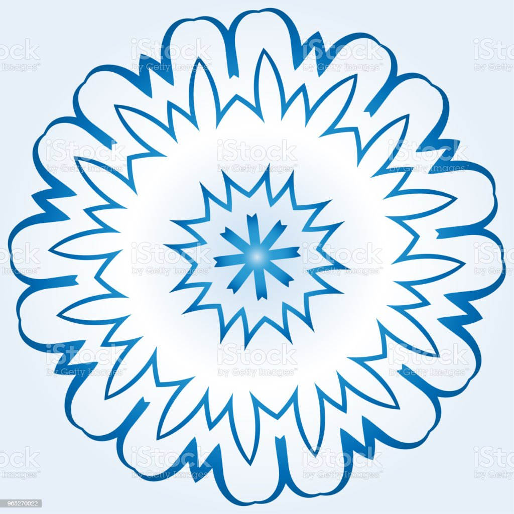 octagonal blue and white snowflake on light blue gradient background royalty-free octagonal blue and white snowflake on light blue gradient background stock vector art & more images of abstract