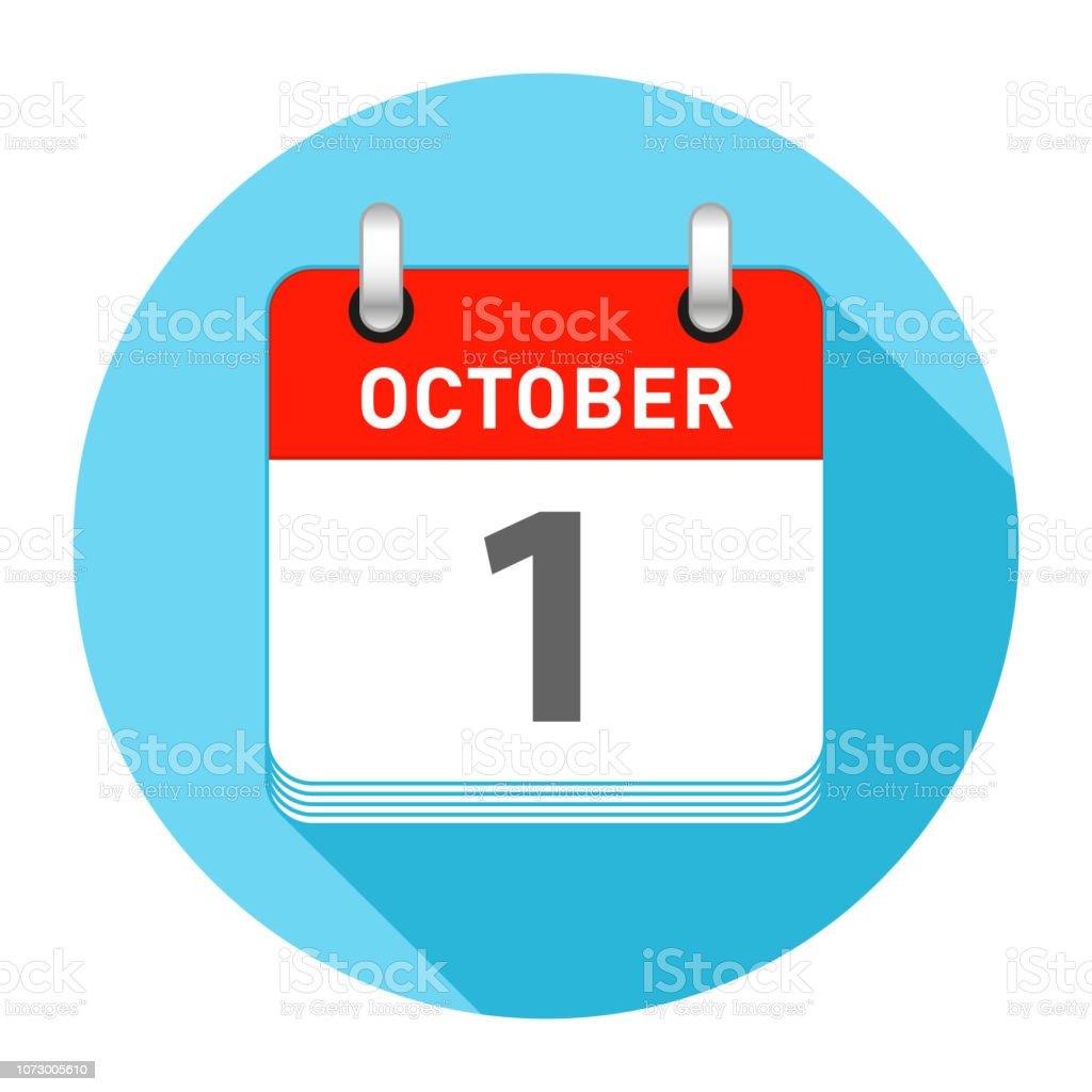 Vetores de 1 De Outubro Dia Calendário Estilo Simples e mais imagens de  Número 1 - iStock