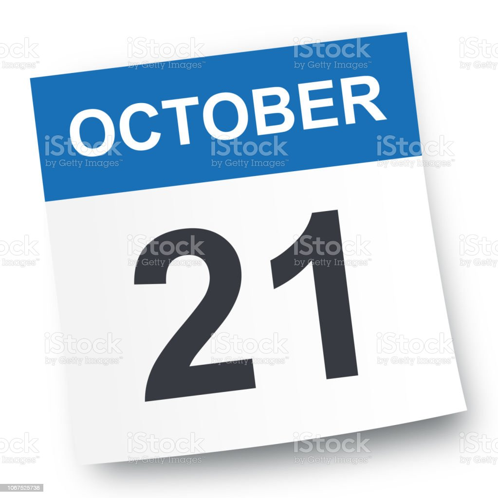 Oct 21 2019 Calendar October 21 Calendar Icon Stock Vector Art & More Images of 2019