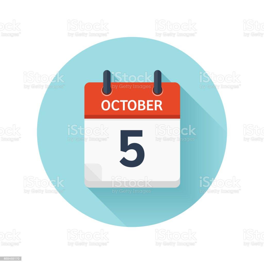 10 月 5 日カレンダーのアイコン...