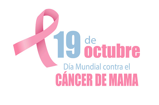 19 October Breast Cancer World day in Spanish. Vector