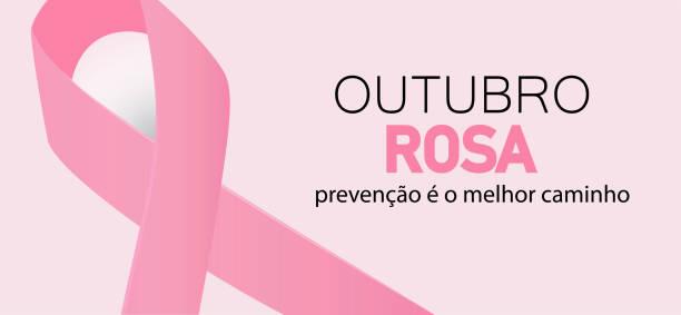 10 월 핑크 인식 월 개념 벡터. - outubro rosa stock illustrations
