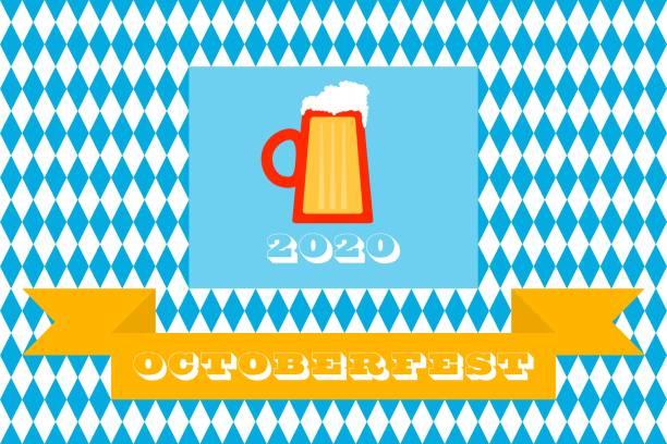Octoberfest  2020 background - beer fest poster, banner, badge, invitation, card vector art illustration